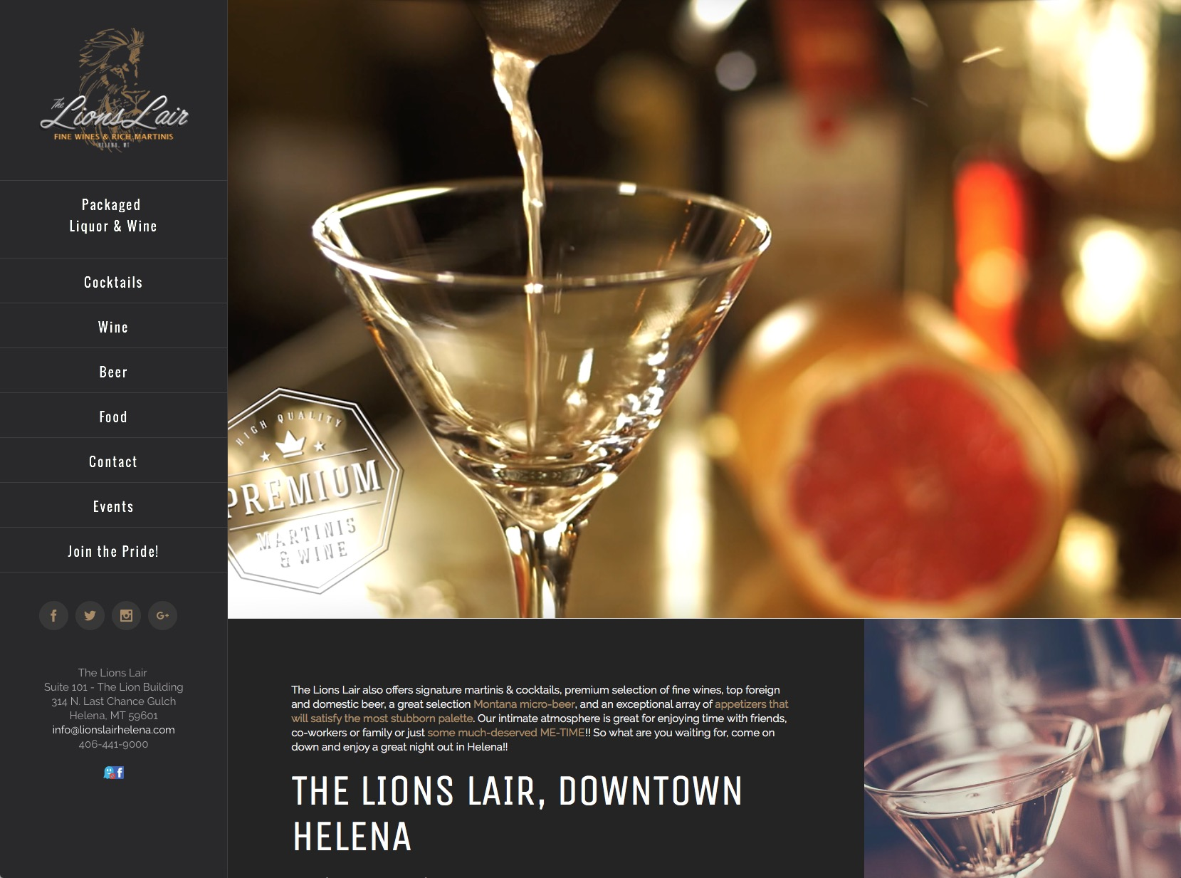 Lions Lair Martini Bar
